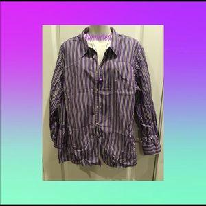 Ralph Lauren Purple Pinstripe Button Down Shirt~3X
